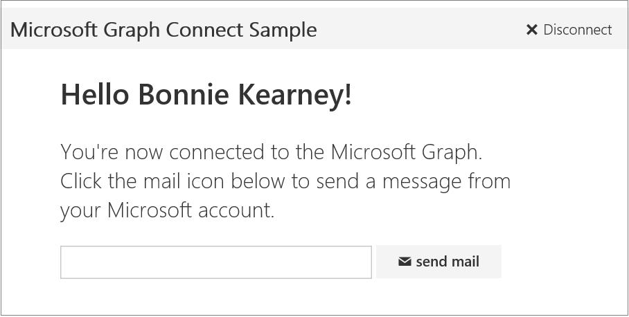 Screenshot des Microsoft Ruby on Rails Connect-Beispiels