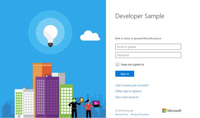 Anmeldeseite für Microsoft-Konten