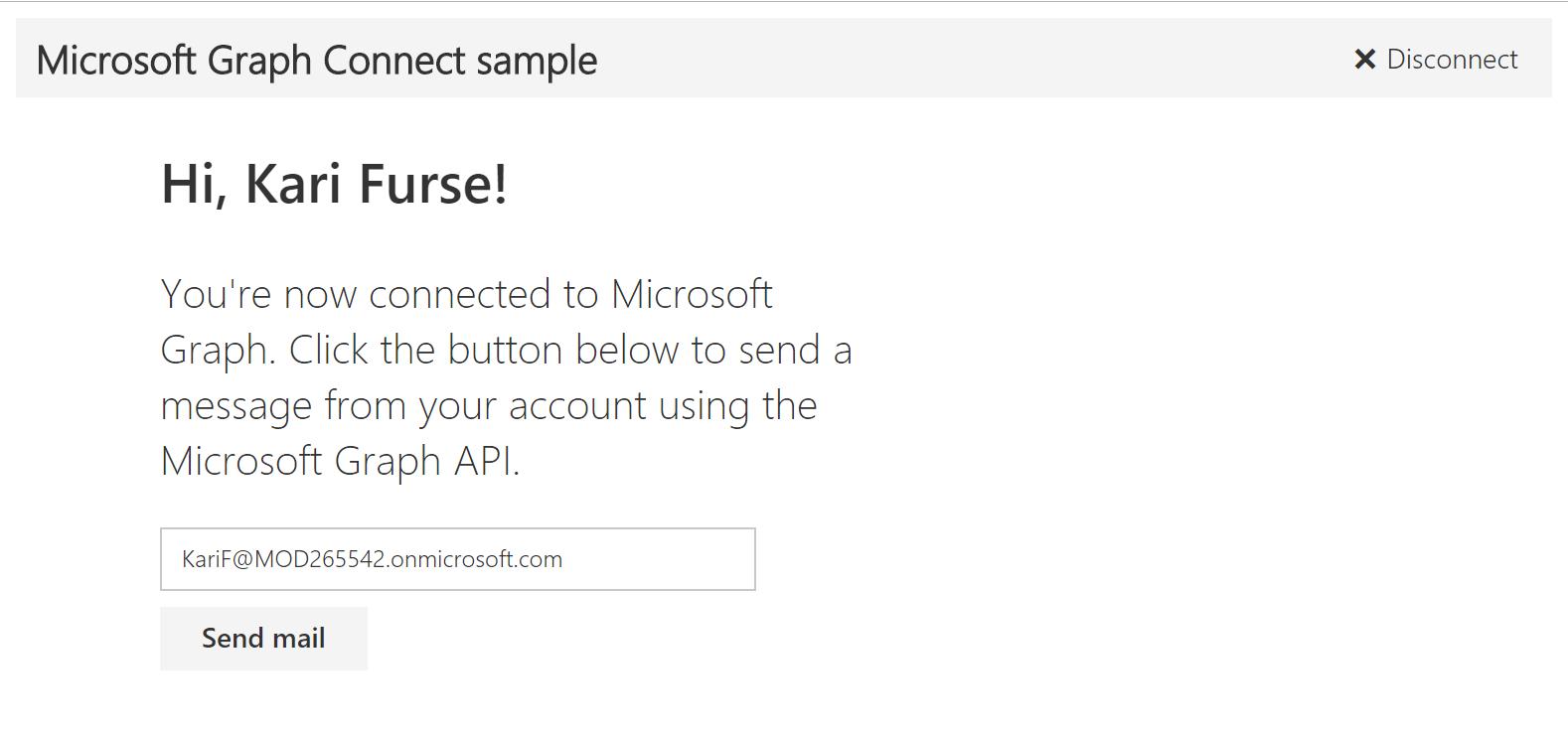 """Die Web-App nach der Anmeldung mit der Schaltfläche """"E-Mail senden"""""""
