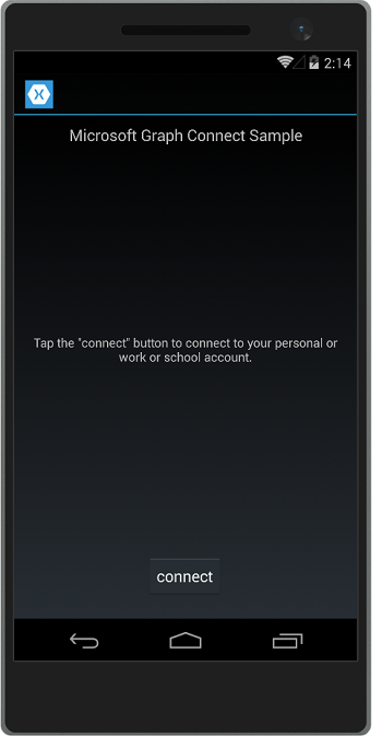 Connect sample on Android