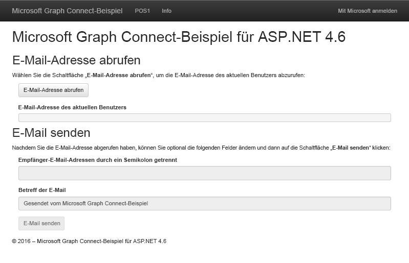 ASP.NET MVC - Dokumentation - Microsoft Graph