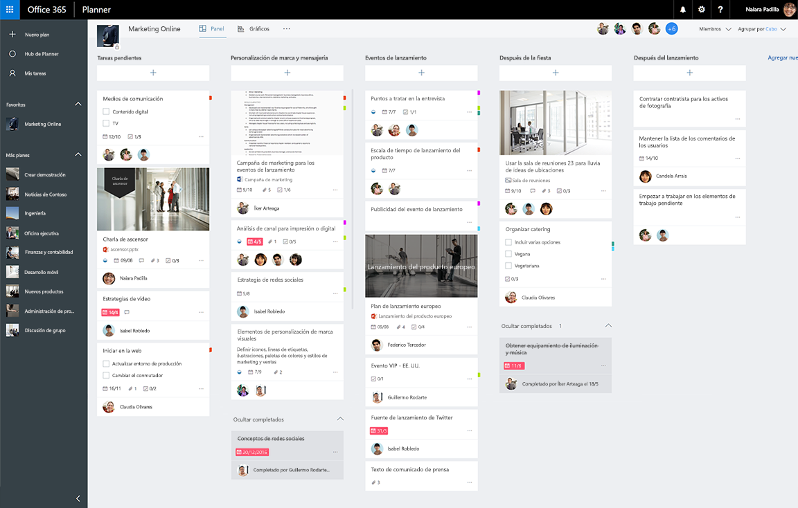 Tareas y planes - Documentación - Microsoft Graph