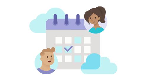 Ilustração de um planejador de educação