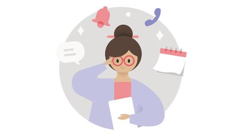 Ilustração de um profissional de serviços