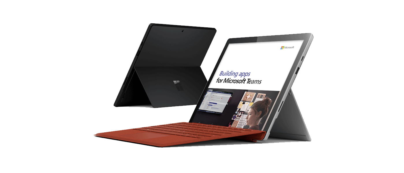 Teams running on Surface laptop image