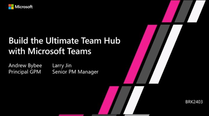 Screen capture taken from Build hub video