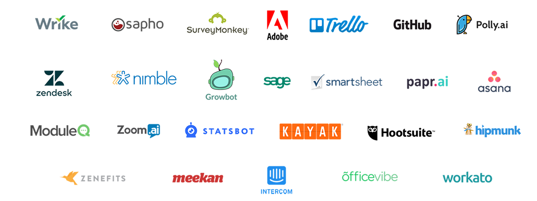 Image containing logos of partners who use Microsoft Teams